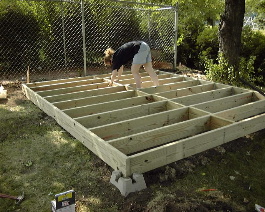how to build a small deck on a slope
