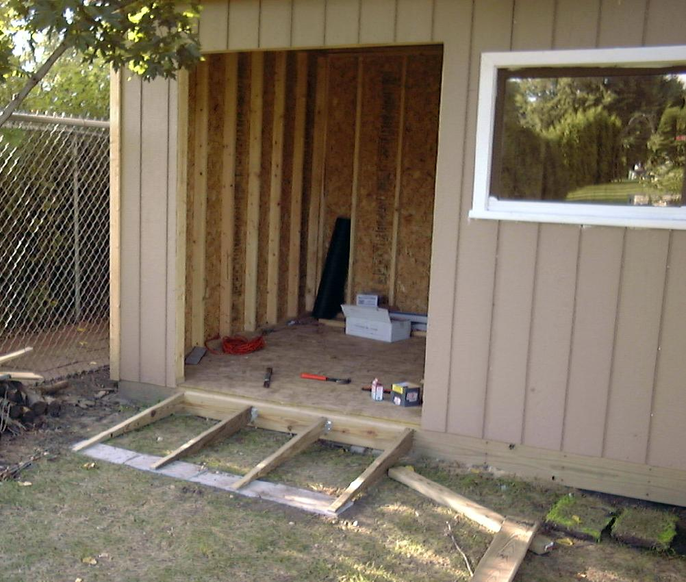 How To Build A Shed Ramp On Uneven Ground - Round Designs